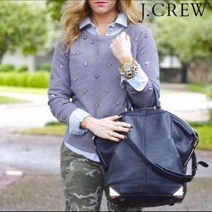 J. Crew Grey Beaded Sweatshirt